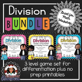 Division Game Set -  3 Levels with Printables