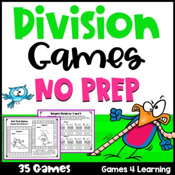 Division Games NO PREP Math Games for Division Facts Fluency