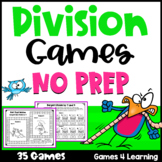 NO PREP Division Games for Fact Fluency: Distance Learning Math Games