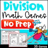 Division Games for Fact Fluency: NO PREP Math Games
