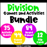 Division Games and Activities Bundle for Division Facts Fluency