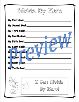 Division Goal Book (Fact Fluency, Student Goal Setting, Graphing Scores)