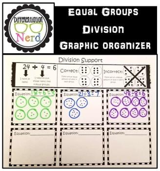 Division Graphic Organizer: Using Equal Groups