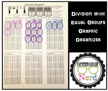 Division Graphic Organizer:  support for kids struggling to keep count