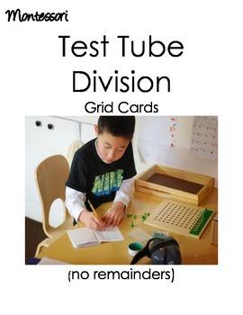Montessori Test Tube Division (no remainders)