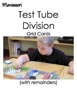 Montessori Test Tube Division (with remainders)