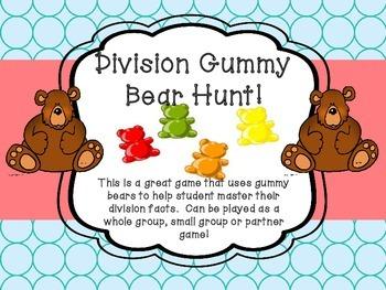 Division Gummy Bear Hunt Center Game Game!  Basic Facts Pa