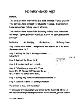 Division Help for Parents