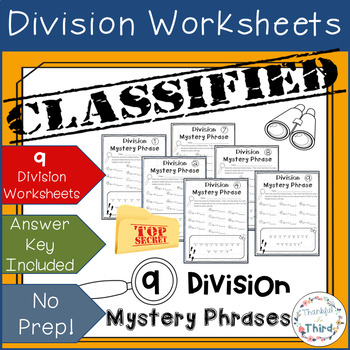 Division Hidden Mystery Phrases