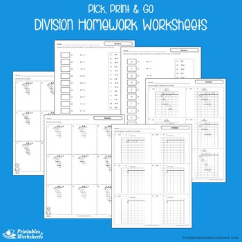 Facts and Long Division Homework Worksheets