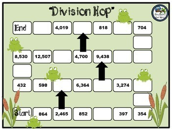 Division Hop Board Game