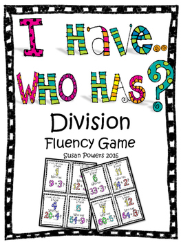 Division I Have Who Has Card Game Freebie