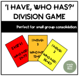 Division 'I Have, Who Has?' Game