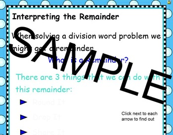 Division: Interpreting the Remainder