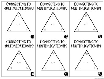 Division Intervention Task Cards | Division Conceptual Understanding