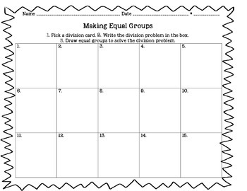 Division Introduction - Making Equal Groups
