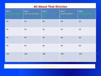 Math Division Game