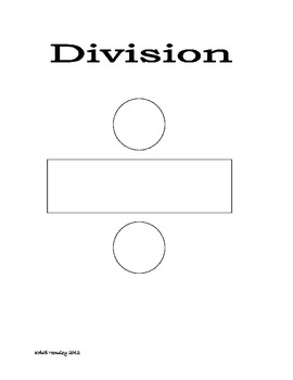 Division Key Words Poster Blank