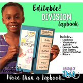 Division Lapbook {EDITABLE}  Division Activities & MORE