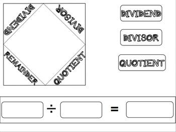 5th Grade Long Division Lapbook - NO PREP