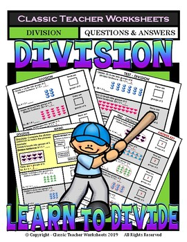 Division-Complete the Division Sentences to Match Pictures-Gr. 2-3 (2nd-3rd Gr.)
