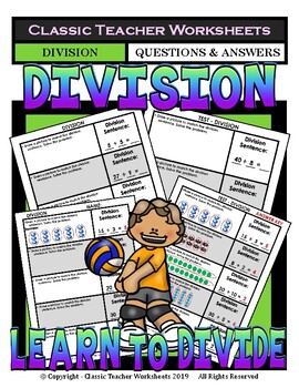 Division - Draw Pictures to Match Division Sentences -Grades 2-3 (2nd-3rd Grade)