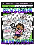 Division -Write a Division Sentence to Match Pictures Grades 2-3 (2nd-3rd Grade)
