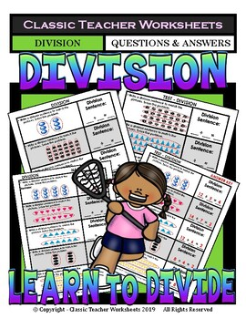 Division -Write a Division Sentence to Match Pictures ...