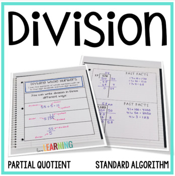 Division Lesson {with Interactive Notes, Word Problems, an