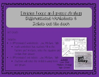 Division Loops and Groups Tiered Worksheet