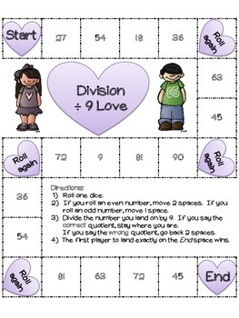 Division Love: 22 Valentine's Board Games in color and b/w