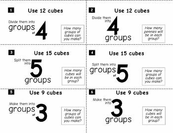 Division Made Visible: 18 Task Cards + Answer Sheet + DIY