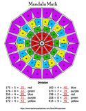 Division Mandala Math Color by Number Bundle