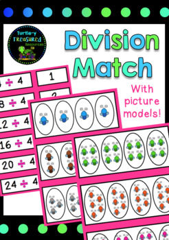 Division Match- Number Sentence, Picture Model & Answer