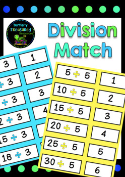 Division Match- Number Sentence and Answer