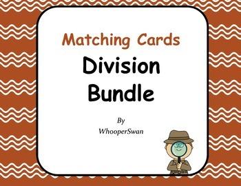 Division Matching Cards Bundle