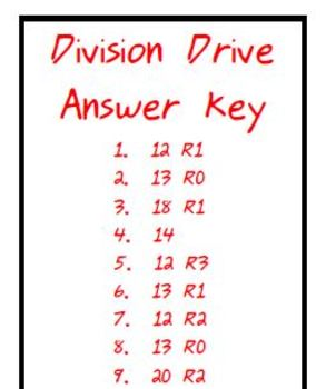 Math Activity: Division 2-Digit by 1-Digit