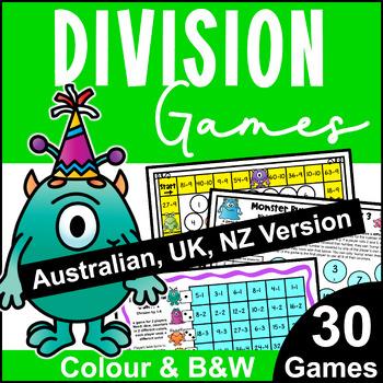 Division Maths Board Games [Australian UK NZ Edition]