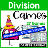 Division Maths Board Games [Australian UK NZ Edition]