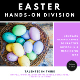 Division Math Center Easter/Spring Theme with Hands-On Manipulatives