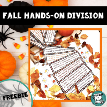 Division Math Center Fall Theme Hands-On with Manipulatives