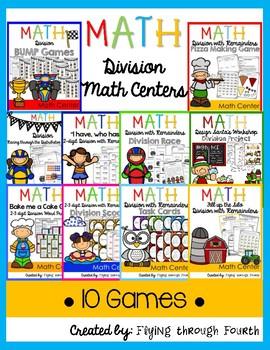 Division Math Centers {4th Grade} 4.NBT.6 - 10 GAMES