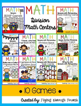 Division Math Centers {4th Grade} 4.NBT.6 - 10 GAMES