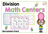 Division Math Centers- Remainders Pack