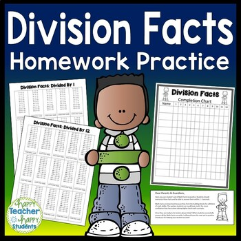 Division Facts - Division Homework Practice for ÷1 thru ÷12