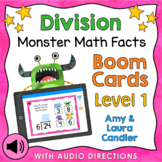 Division Math Facts Level 1 Boom Cards - Digital Task Cards