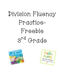 Division Math Facts Practice