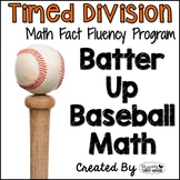 "Division Math Facts Timed Tests- ""Batter Up Baseball Math"""