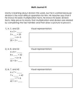 Division Math Journal