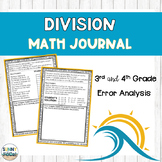 Division Math Journal Error Analysis and Problem Solving